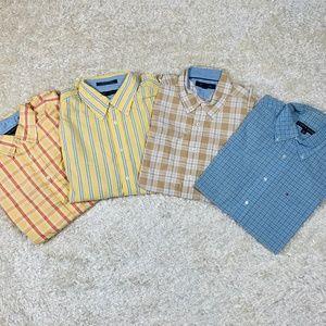 Tommy Hilfiger Men Size L Short Sleeve Shirts Lot